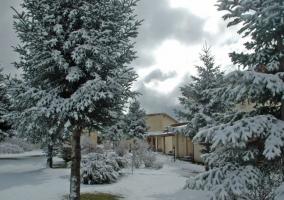 Vistas de los exteriores nevados