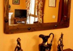 Sala de estar y vista reflejada