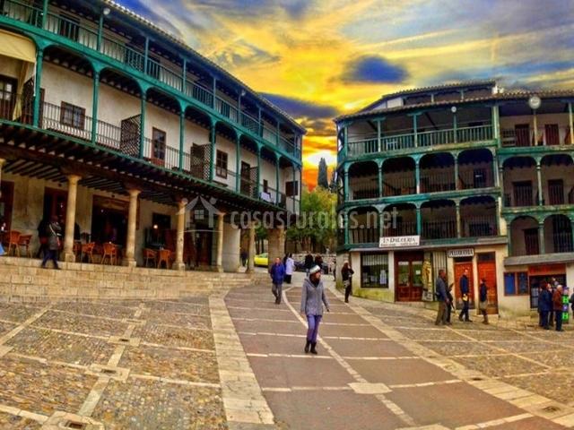 Zona de la Plaza Mayor de Chinchón