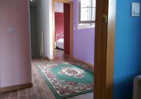 Pasillo distribuidor con alfombra