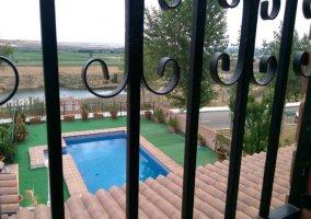 Vistas de la piscina desde la planta superior