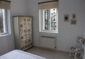 Mobiliario del dormitorio de la planta baja