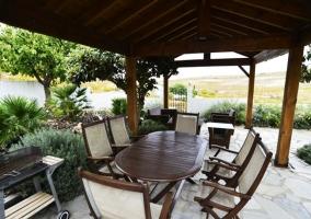 Tumbonas y piscina con vistas al viñedo