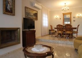Sala de estar y comedor tipo victoriano