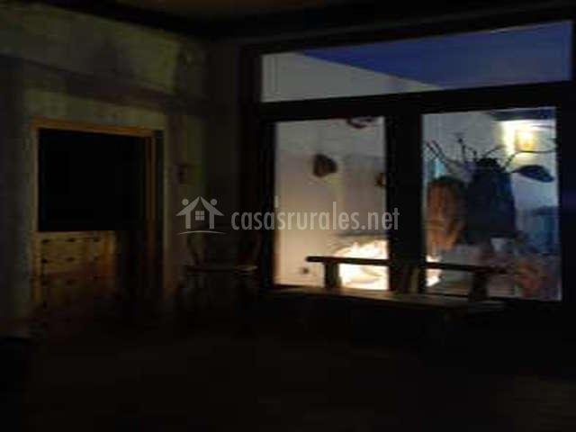 Terraza con muebles cómodos