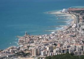 Zona de la costa en Sitges