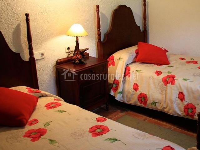 Habitación doble cómoda, relajante y amplia