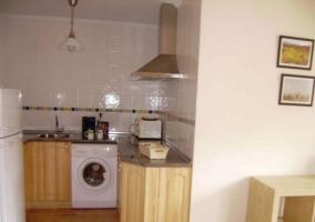 Salón-comedor con cocina integrada