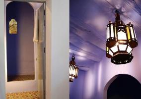 Detalle techo y acceso a las estancias