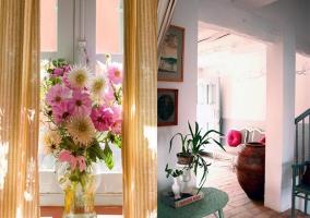 Flores ornamentales y rellano