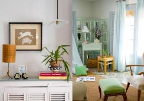Decoración y salón con ventanal