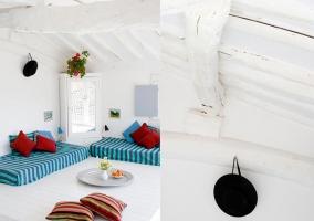 Zona Chill Out y detalle decorativo