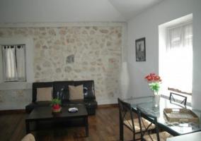 Sala de estar vista desde la cocina