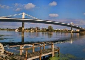 Zona de Deltebre y el puente
