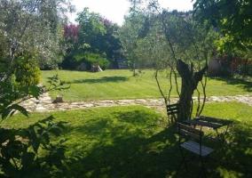 Acceso a los jardines y vistas de las terrazas