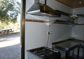 Cocina con salida al patio