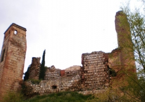 Vistas del castillo de Escalona en ruinas
