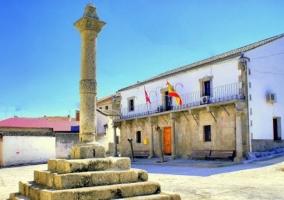 Zona de la plaza en Escalona