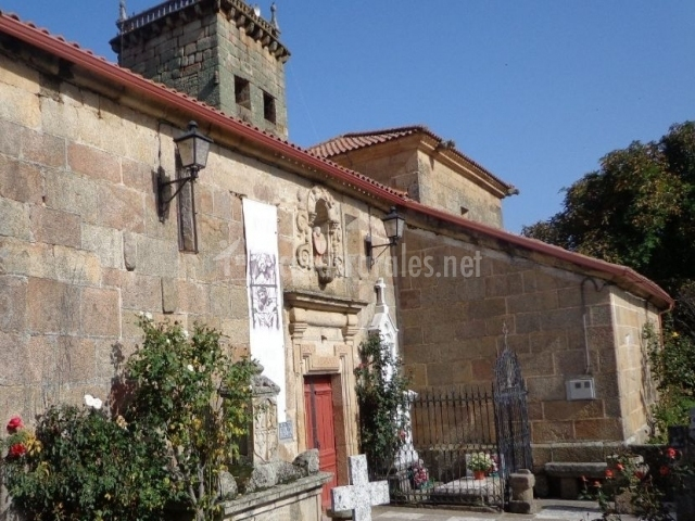 Zona de la entrada a la iglesia de San Salvador