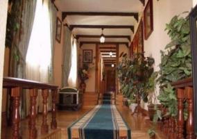 Pasillo con suelos de madera y alfombras