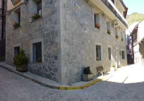 Vistas de la fachada en el casco urbano