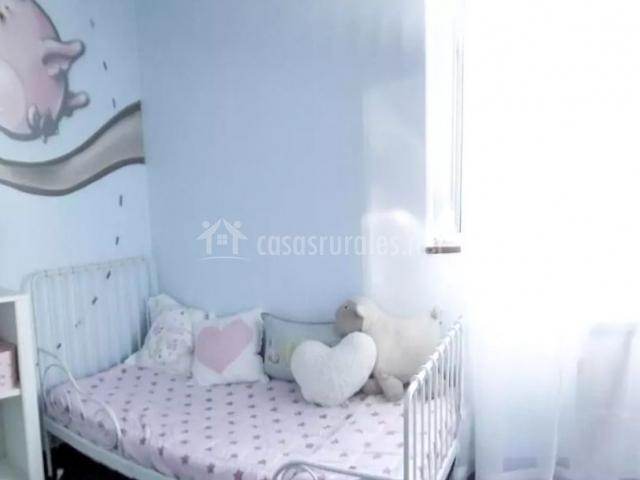 Dormitorio doble infantil en la planta primera