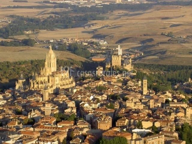 Zona de Segovia desde el aire