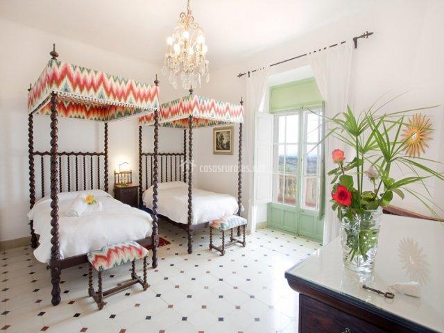 Habitación con 2 camas de Casa Principal