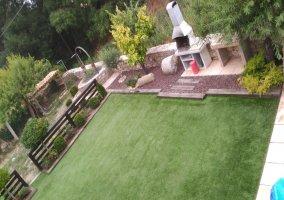 Vista general del jardín