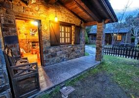 Exterior de los bungalows