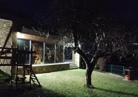 Vistas del jardín iluminado