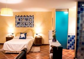 Dormitorio de matrimonio azul