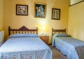 Dormitorio de matrimonio y una individual