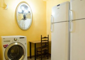 Sala de la lavadora y las neveras