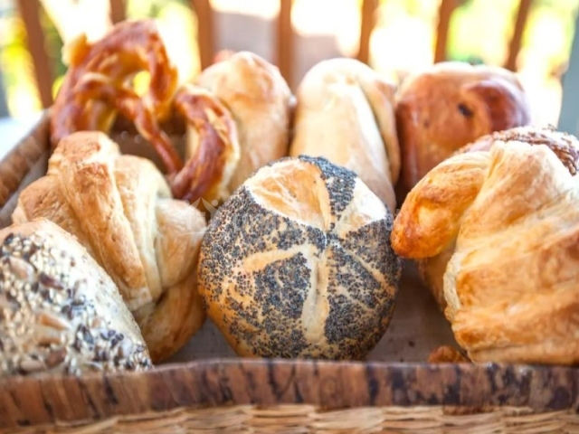 Vistas de la terraza con panes