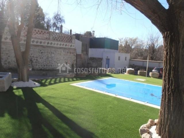 Amplias vistas de la piscina