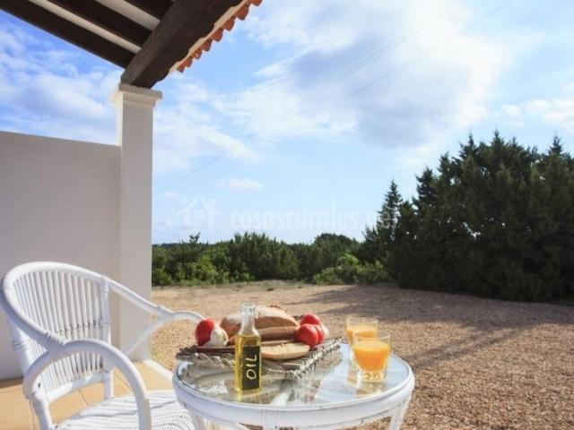Un desayuno en la terraza