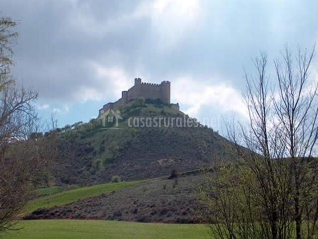 Zona del castillo entre espacios verdes