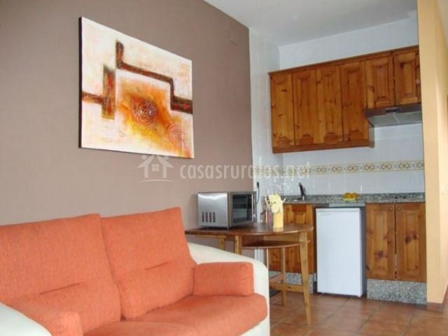 Apartamento Chocolate Salón-cocina