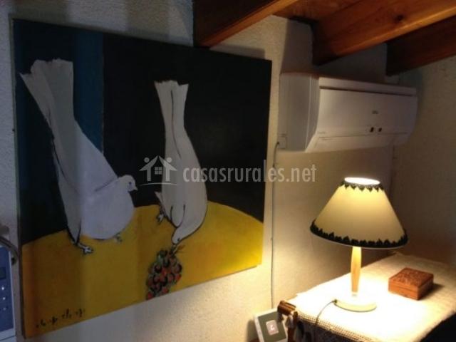 Detalles de los cuadros en la casa