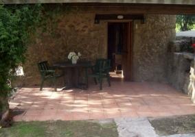 Vistas de la entrada a la casa