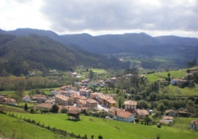 Vista aérea de Soto de Luiña