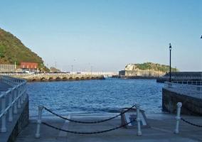 Vistas desde el puerto de Cudillero