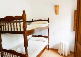 Dormitorio cabaña20 con litera