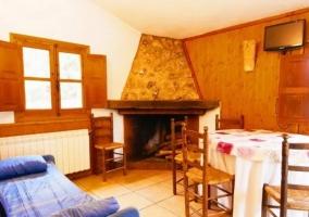 Sala de estar cabaña 10