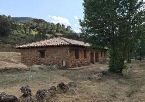 Vistas de las casas en piedra