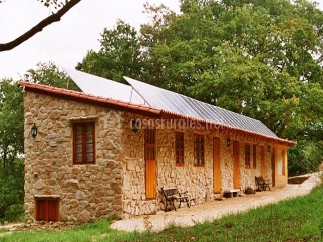 Cabañas con techo solar