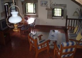 Salón y cocina en la planta baja