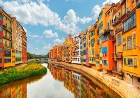 Ribera del río en Girona
