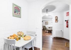 Mesa del comedor en al cocina